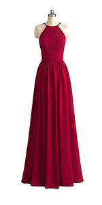 open back bridesmaid dress