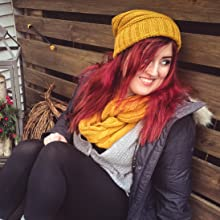 oversized slouchy beanie and matching infinity scarf