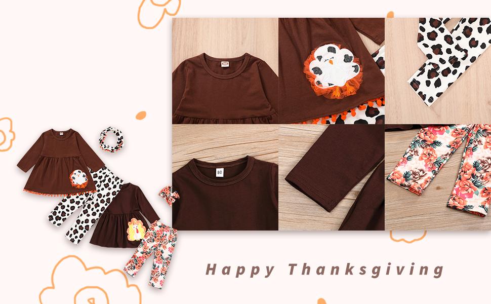baby pumpkin turkey pant set
