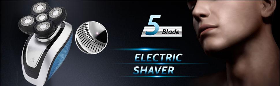Afeitadora de cabeza calva, 5 en 1 4D impermeable Maquinilla de ...