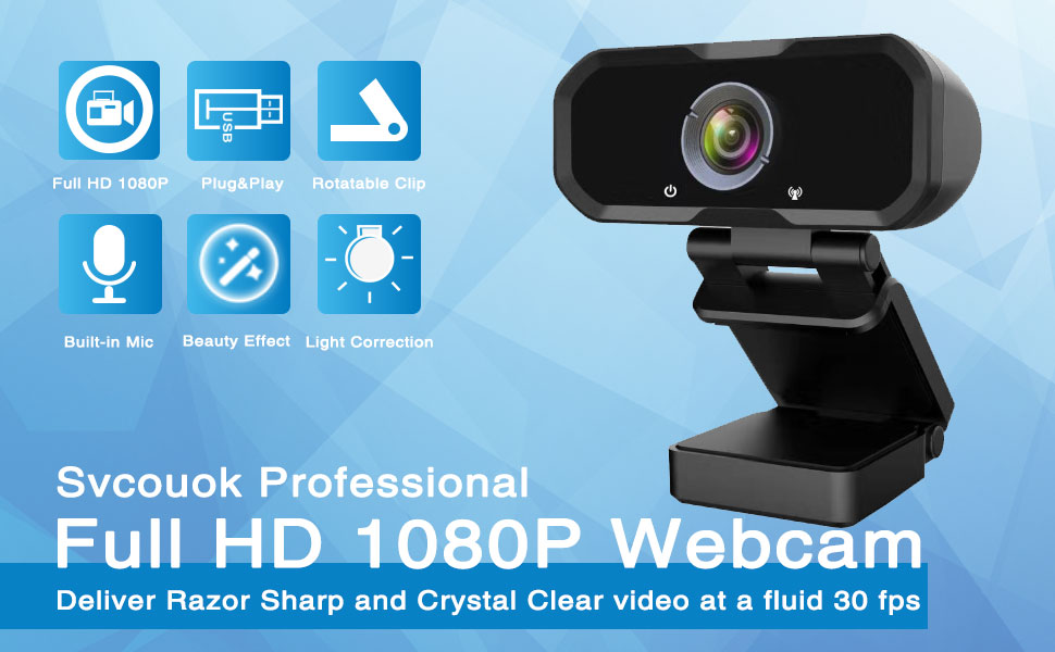 Webcam 1080p HD Computer Camera