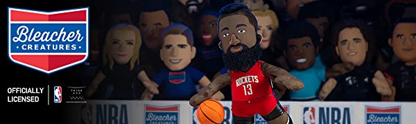 "Bleacher Creatures Houston Rockets James Harden 10"" Plush Figure - A Legend for Play Or Display"