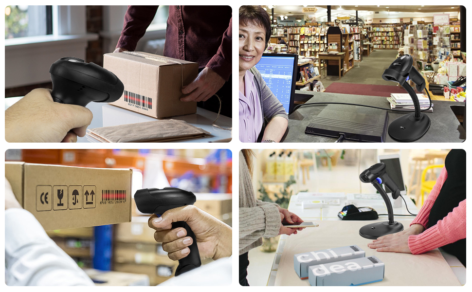 Automatic Bar Code Reader with Hands Free Adjustable Stand