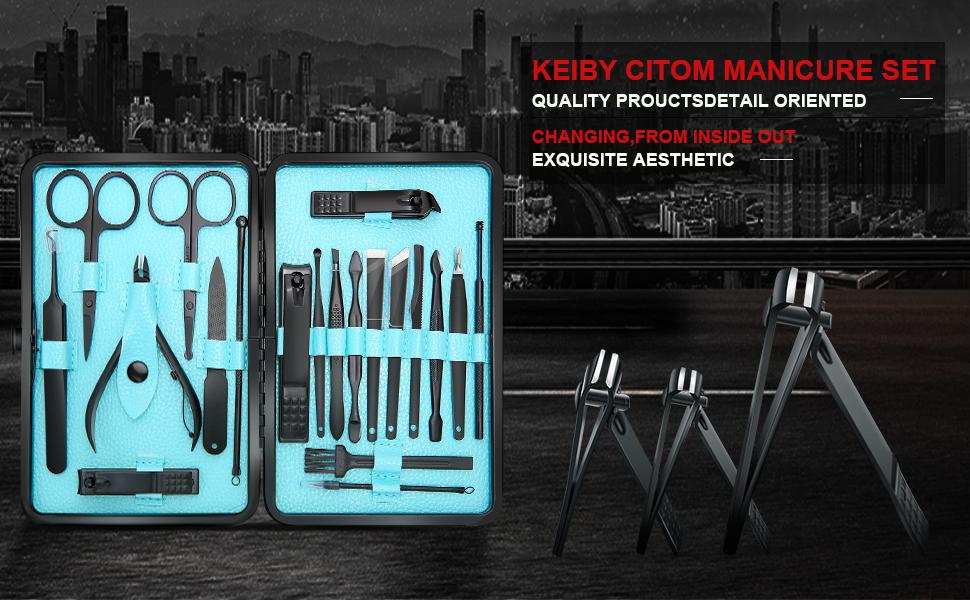 manicure set, nail clippers, nail set, mens manicure set, manicure set for women