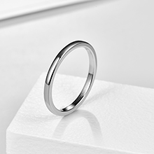 silver 2mm ring