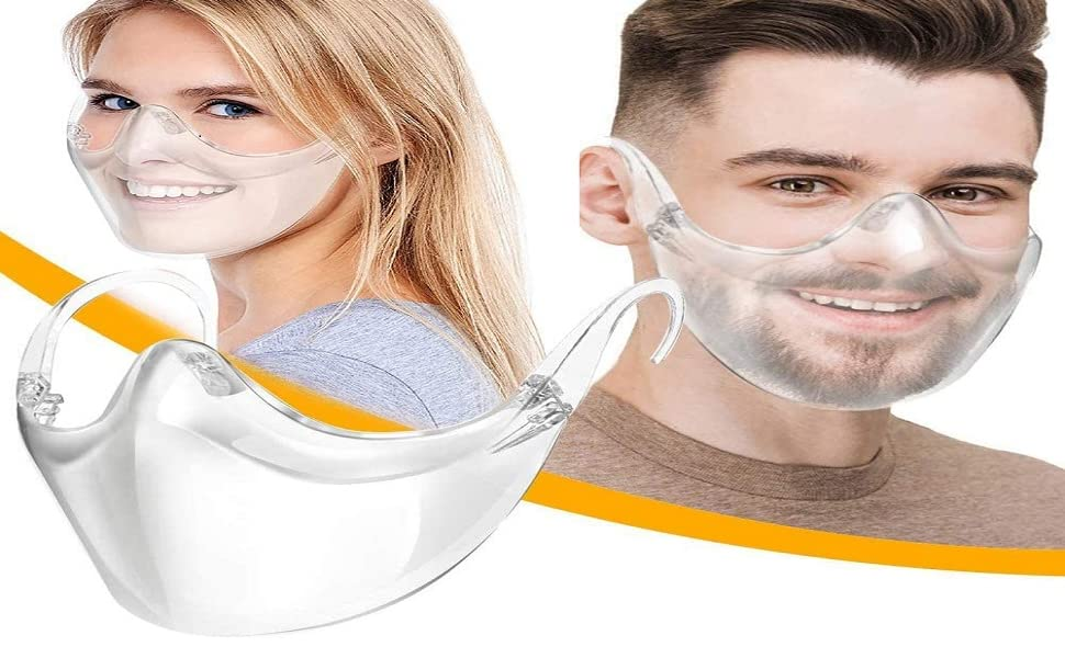 1pc, Gray Breathable and comfortable Durable Face Msak,Reusable Protect Cover Protect makeup Feelcrag Reusable Clear Face Msaks