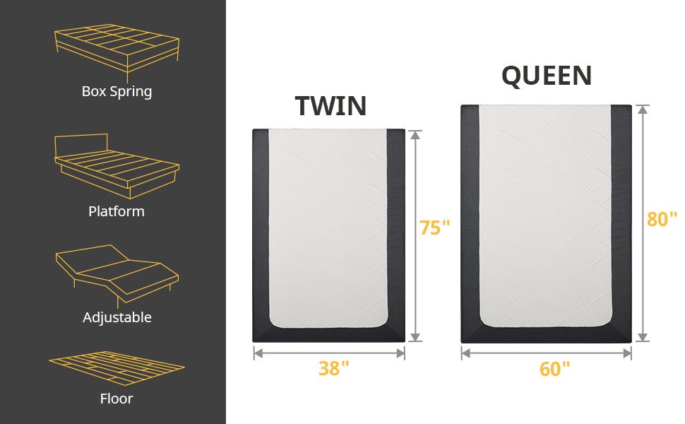 mattress size twin mattress queen mattress