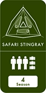 Tentsile stingray 3 person three tree tent camping hiking hammock flying hanging elevated outdoors