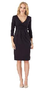 women vneck long sleeve cotton dress