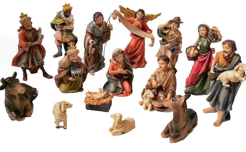 Christmas Nativity Scene Set of 15 Figurines