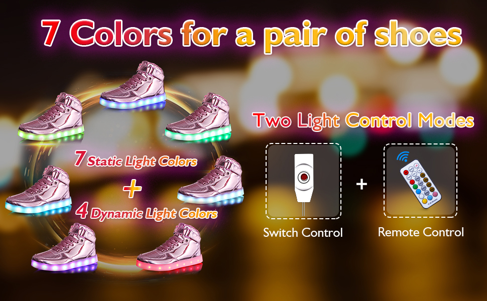 7 colors for a pair of shoes