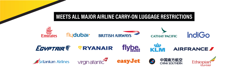 Travel Ready 4-Wheel Collapsible Cabin Luggage Major Airlines Approved for RyanAir easyJet Emirates