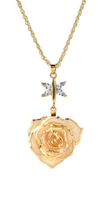 red Flower Pendant Necklace floral Gifts Elegant Crystal Jewelry women girls her Christmas torque
