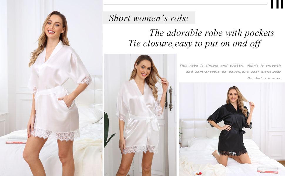 short robes for women