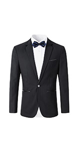 Beninos Mens Slim Fit Casual One Button Blazer Jacket