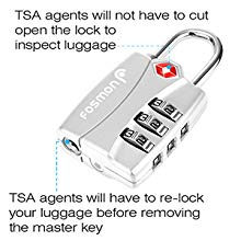 Fosmon TSA Approved Luggage Locks