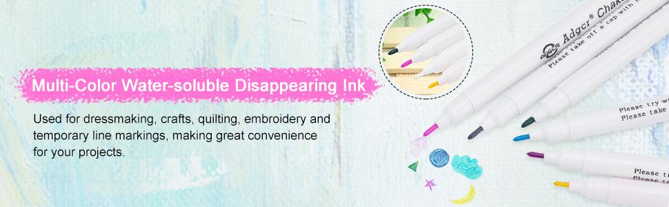 para m/ágicos tinta invisible 6 bol/ígrafos de tinta de color borrable en agua marcadores de tela de tinta que desaparece de varios colores