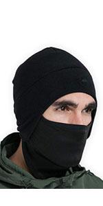 fleece skull cap with mask