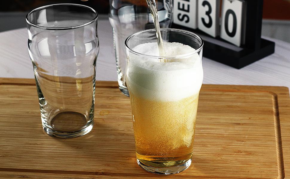 LUXU Pint Beer Glasses