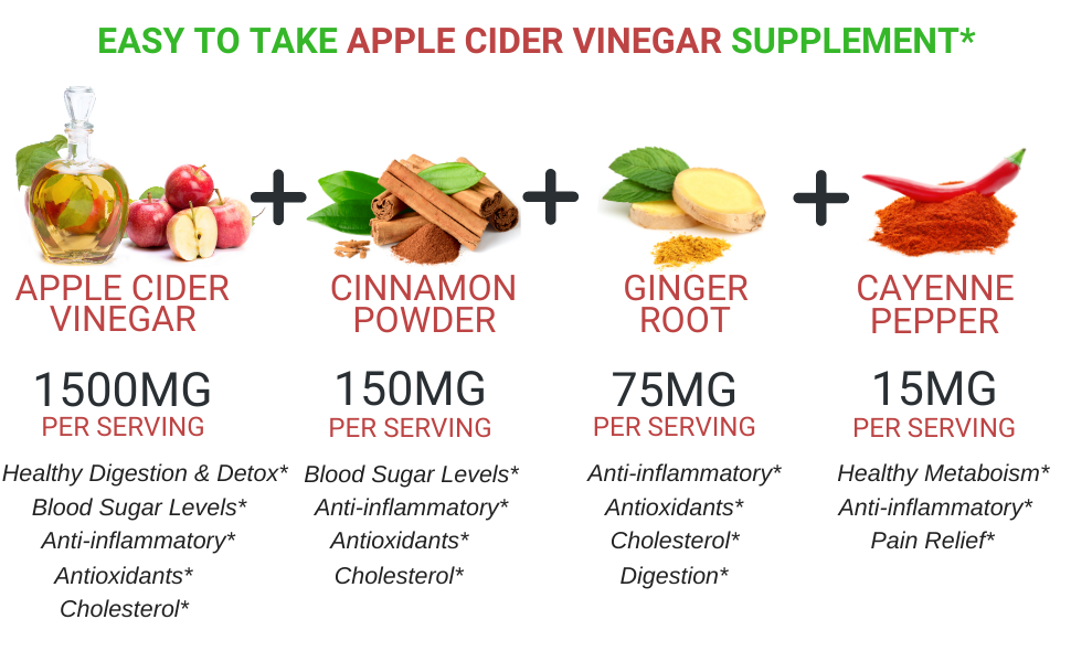 fresh healthcare apple cider vinegar capsules gummies acv complex supplement detox