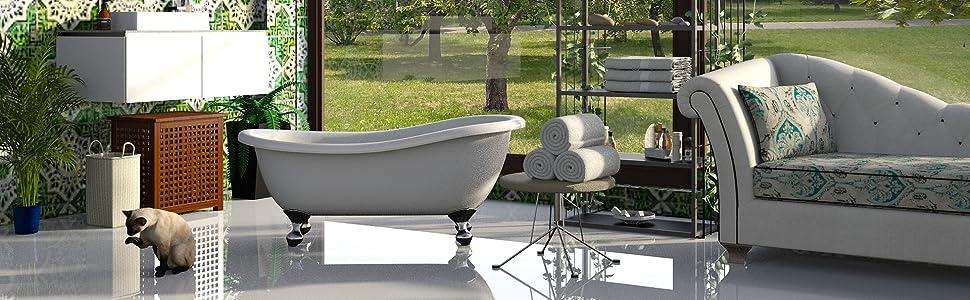 Die hochwertigen Badematten von Wohndirect schaffen ein luxuriöses und stilvolles Ambiente.