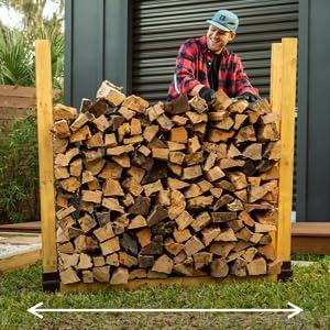 firewood outdoor rack