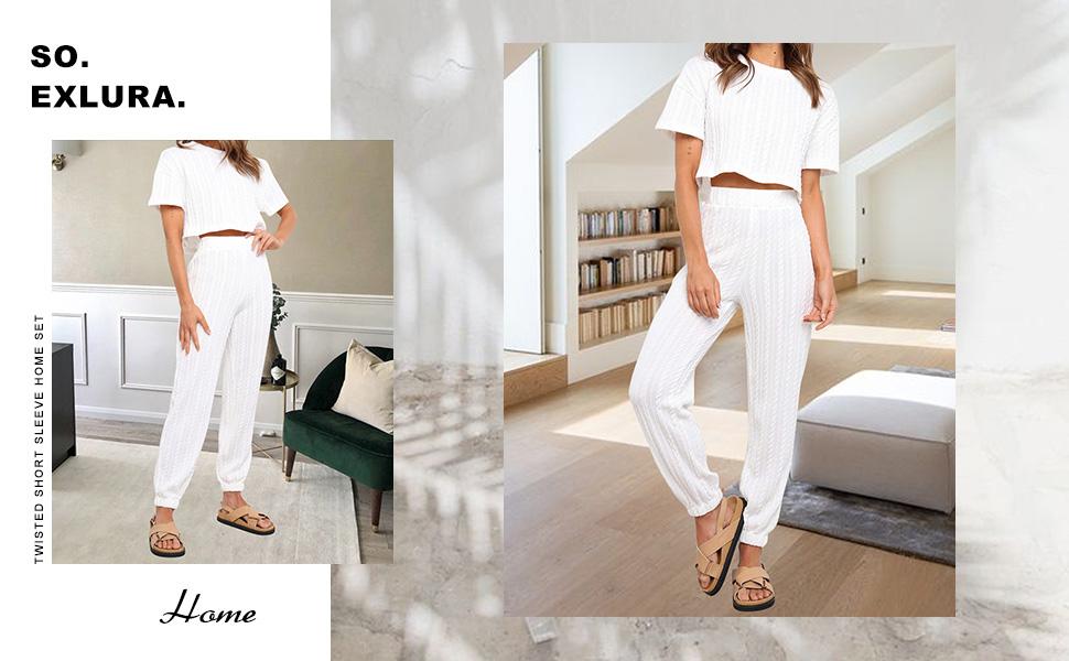 Womens Twist Pajamas Set
