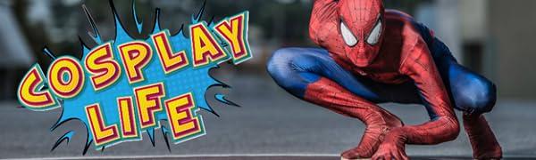Cosplay Life Logo spiderman costume halloween bodysuit morphsuit zentaisuit spidey comic con