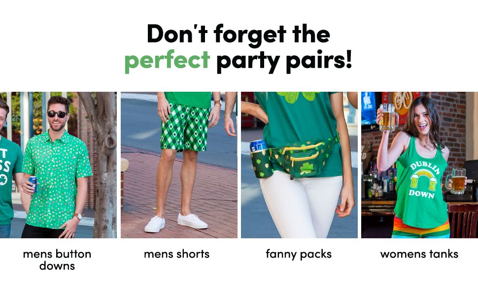 other tipsy elves product button downs mens shorts fanny packs womens tanks