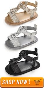 baby sandal glitter