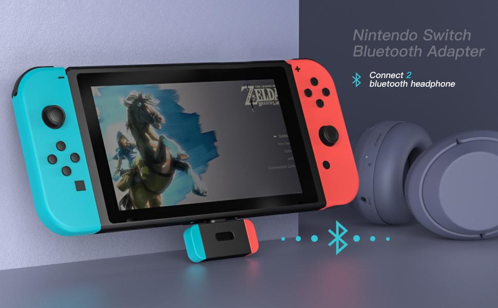 NetDot Adaptador Bluetooth con Conector USB-C para Nintendo Switch ...