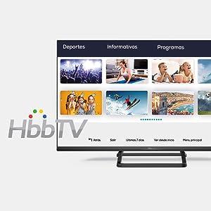 Television Smart TV 32 Pulgadas Android 9.0 y HbbTV, 800 PCI Hz, 3X HDMI, 2X USB. DVB-T2/C/S2, Modo Hotel - Televisores TD Systems K32DLX10HS. TDSystems: Amazon.es: Electrónica