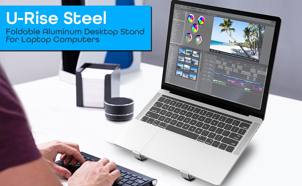Aduro U-Rise Steel Ergonomic Laptop Stand