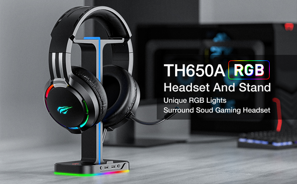 rgb headset and headphone stand