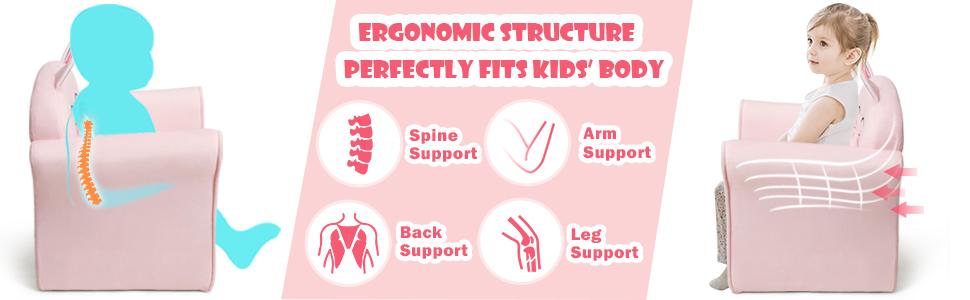 toddler furniture ergonomic structure