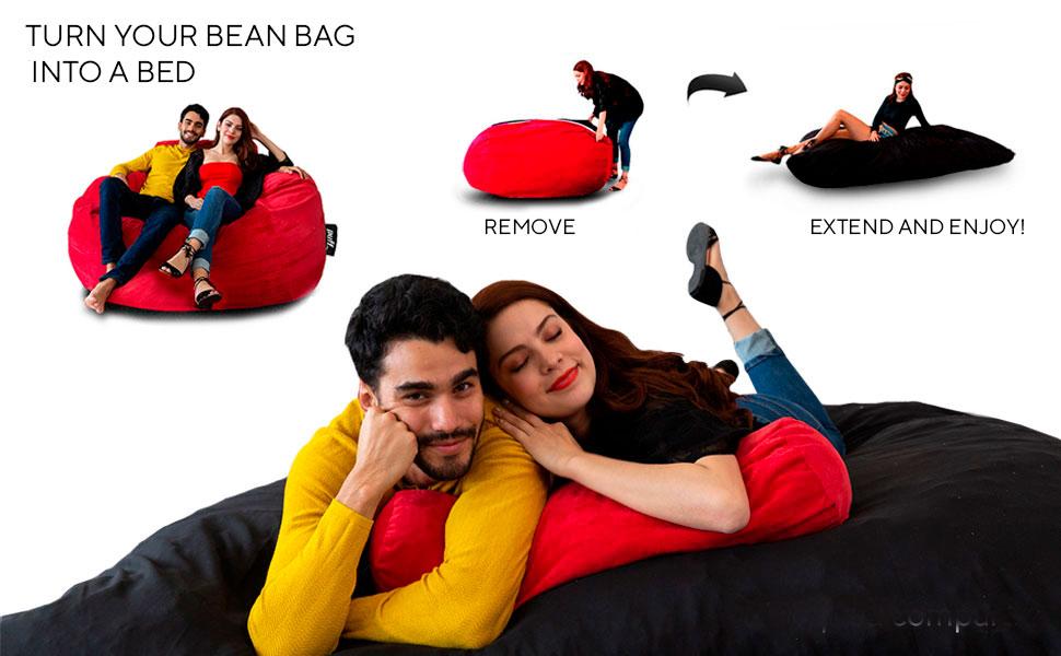 Bean Bag 2 in 1 Queen Size