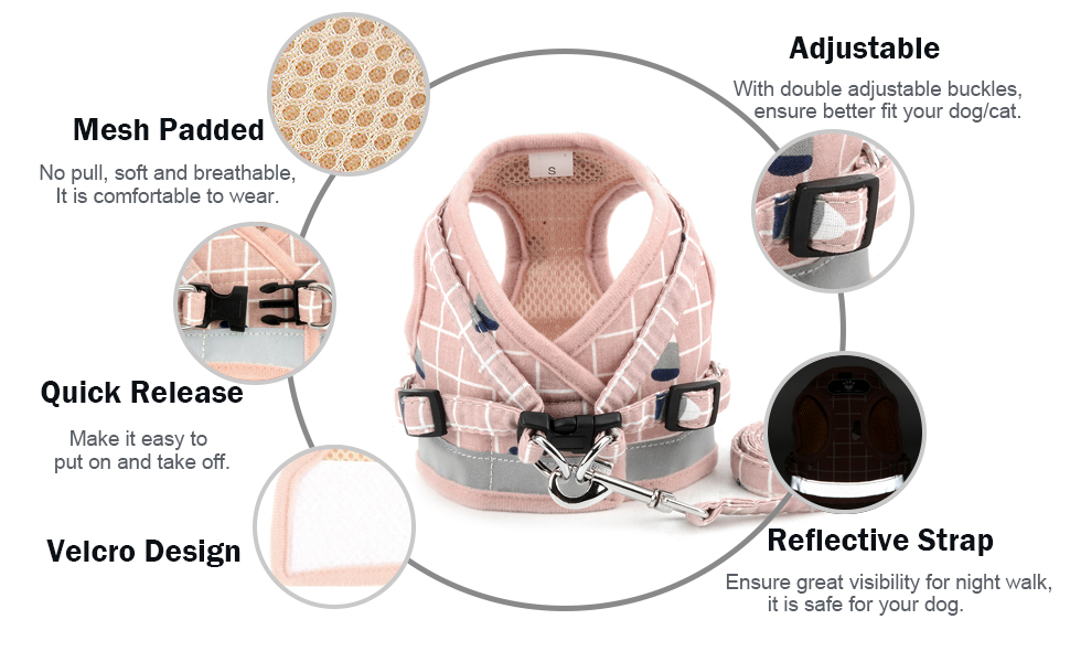 no pull dog harness adjustable reflective