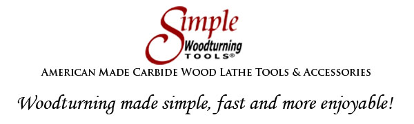 Carbide Wood Lathe Tools & Accessories by Simple Woodturning Tools