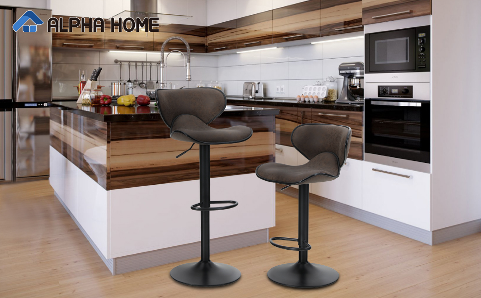 ALPHA HOME Counter Height Adjustable Bar Stools Chairs