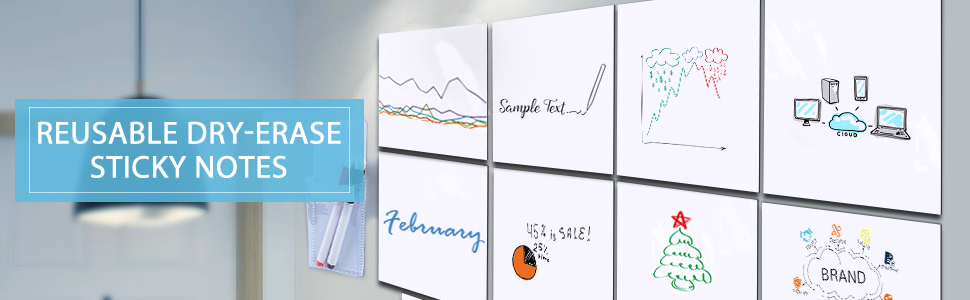 Self-Stick Whiteboard Stickers