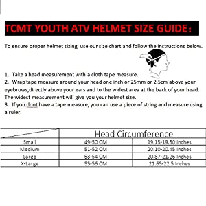 youth helmet size