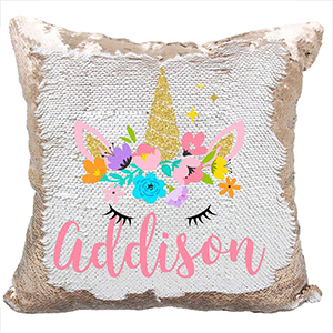 ROSEGOLD UNICORN PILLOW