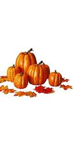 Thanksgiving Artificial Pumpkin Decoration,  100 pcs Maple Leaves