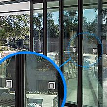 Multiple sliding door locks