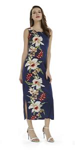Hawaii Hangover Women's Long Tank Dress Maxi Elegant