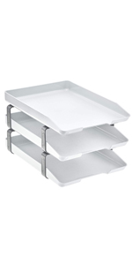acrimet traditional letter tray 3 tier front load white color