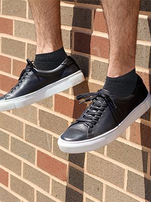 Black Mid Ankle Socks