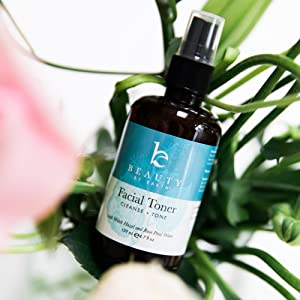 beauty by earth natural organic face facial toner moist skin after makeup rose water