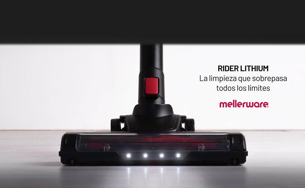 Mellerware Rider Lithium. Aspirador a batería Lithium 22,2V. Sin ...