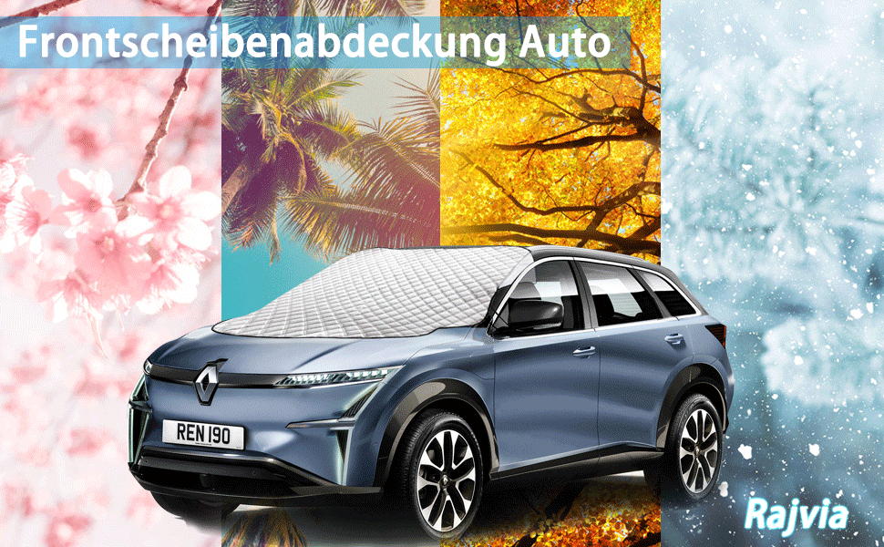 Sonnenschutz f/ür die Au/ßenseite passend f/ür die meisten Autos SovelyBoFan Auto-Heckscheibenabdeckung mit Klappen und 4 Magneten LKWs SUVs